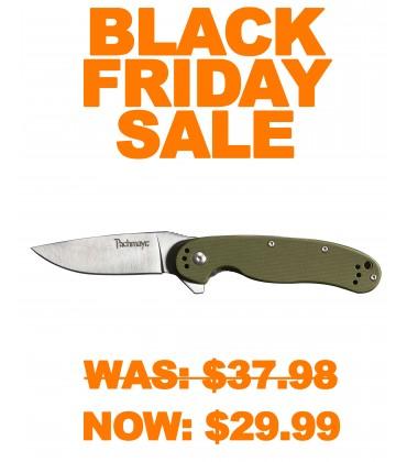 Snare Folding Knife OD Green
